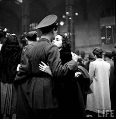 Goodbye at Pennsylvania Station, 1944............Did he come home?