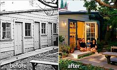 A couple almost tore down a tiny, early 1900s-era shed. Instead, they found ways to give the small building multiple functions and turned it into a handy backyard living space.