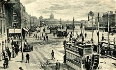 Eden Quay | Flickr - Photo Sharing! Dublin House, Dublin City, Old Pictures, Old Photos, Vintage Photos, Gone Days, Old Irish, City Library, Photo Engraving