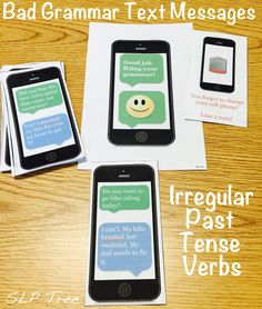 AutoCorrect FAIL! You can't rely on AutoCorrect to correct your grammar mistakes. Use this cell phone/technology themed product to target irregular past tense verbs with these fun and motivating text message activities.