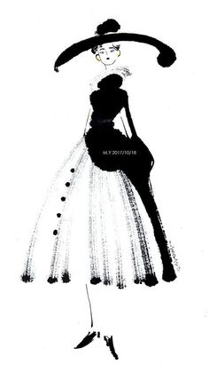Ink Ladies Inspire by the Dior exposition in Paris Character Inspiration, Character Art, Character Design, School Fashion, Fashion Art, Barbie Fashion Sketches, Fashion Design Drawings, Process Art, Anime Art Girl