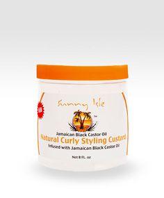 SunnyIsleJamaicanBlackCastorOil.com - Sunny Isle Jamaican Black Castor Oil Curly Custard, $14.99 (http://www.sunnyislejamaicanblackcastoroil.com/sunny-isle-jamaican-black-castor-oil-curly-custard/)