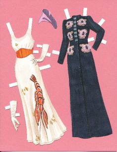 Elsa Schiaparelli paper doll clothing.
