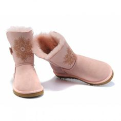 Discount Pink UGG Bailey Button Boots Replica Cheap Online UGG059 #ugg #boots