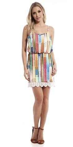 Vestido Viscose Volpi Guipir - FashionUp