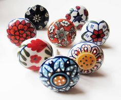 10 x Mix Vintage Look  Floral Ceramic Knobs Door Cabinet Cupboard Knob Pull Handle Shabby Chic on Etsy, 28,56 €