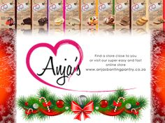 We all know the Festive season brings a lot of temptations... So visit one of our Anja stores to ensure you are enjoying yourself this Christmas! And in the meantime still avoiding the foods on the Red List. Anja's have a wide variety of products and delicious premixes, feel free to visit www.anjasbantingpantry.co.za for all the information you need.