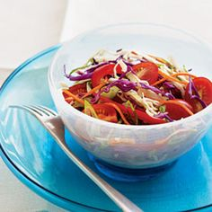 Tailgating this weekend? Make this Spicy-Sweet Slaw (no mayo!) #football #recipes | Health.com