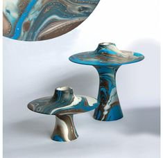 $101.00 Gold Leaf Design Group Emery Wood Vases Hydrogen + Oxygen + Paint + Wood = Emery. Each vase is hand made of Mango wood.