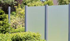 GroJaAmbiente Glas Sichtschutz In Klar Und Satiniert Mit  Klemmschienenbefestigung In EV1
