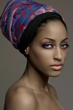 yes, yes, and yes on the hair-wrap, make up colors too...