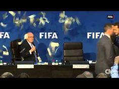 Lee Nelson threw cash in outgoing FIFA President Sepp Blatter's face