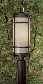 "Mirador ES 20"" French Bronze 1-Light Outdoor Post Light - click to enlarge"