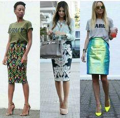 Estilos y las faldas