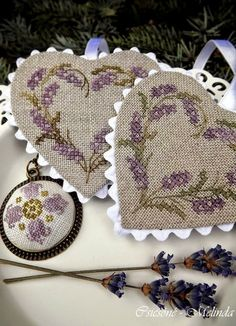 """Lovely heart things, """"Embroidery by Melinda Csicsóné: Easter and not only"""" (Hungary)"""