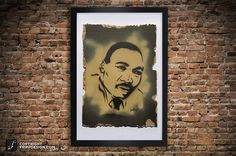 Martin Luther King Stencil Graffiti Painting MLK by frippdesign