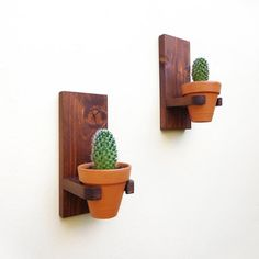 Rustic wall hanging planters set clay pots for succulents wall mounted terracotta indoor planter pot wall planter outdoor set Rustic wall hanging planters set clay pots for succulents wall Rustic Planters, Wood Planter Box, Hanging Planters, Wall Planters, House Plants Decor, Plant Decor, Rustic Walls, Rustic Wood, Decoration Cactus