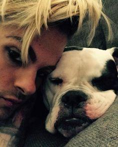 "TommyJoe Ratliff on Instagram: ""My baby is all doped up on Benadryl. ❤️ #americanbulldog"""