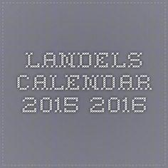 Landels Calendar 2015-2016