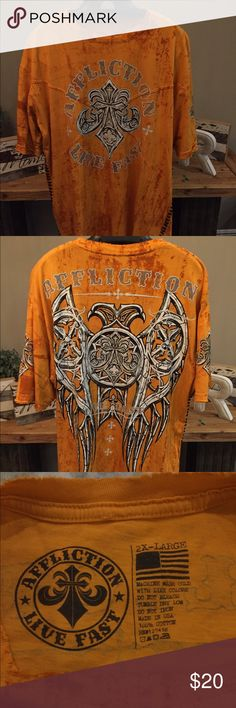 Affliction - Live Fast - T-Shirt 2XL XXL - Excellent Condition Affliction Shirts Tees - Short Sleeve