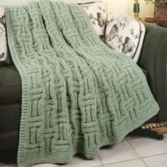 Easy Knit Zigzag Afghan Knitting Pattern | Red Heart
