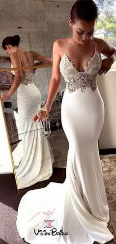 Charming Lace Sexy Backless Mermaid Jersey Prom Dresses from Ulass Prom Dresses Lace, Mermaid Prom Dresses, Prom Dresses Backless, Prom Dresses Sexy, Prom Dress Prom Dresses 2019 Backless Prom Dresses, Sexy Wedding Dresses, Mermaid Prom Dresses, Bridal Dresses, Wedding Gowns, Dress Prom, Dress Lace, Maxi Dresses, Lace Wedding