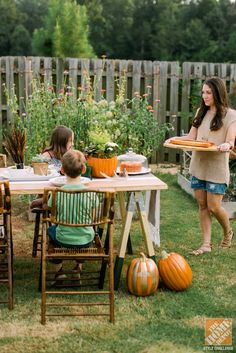 Outdoor decorating with a harvest theme
