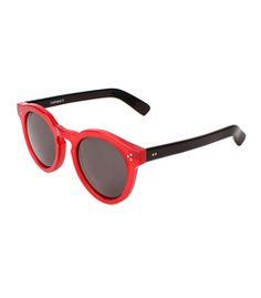 llesteva Leonard II Red & Black Sunglasses