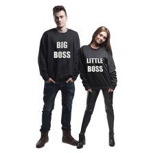 Jumpers & Sweatshirts – Set of two sweatshirts for couple big little boss – a unique product by MoodyMood on DaWanda