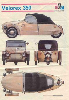 Velorex Motorized Trike, Sidecar, Bike Components, Microcar, Reverse Trike, Trike Motorcycle, Smart Fortwo, Old Bikes, Unique Cars