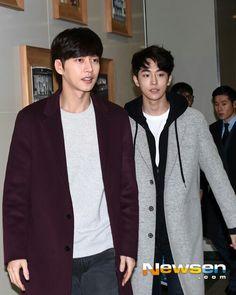 park hae jin 박해진 and nam joo hyuk 남주혁 cheese in the trap 치즈인더트랩 freehug event 02.12.2016