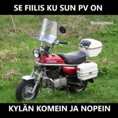 Kateutta herättävä tyylikäs lopputulos #mopo #pv #suzukipv #sutii #keulii #paukkuu #tuning #stylad # - pussittajat What Meme, 50cc, Some Fun, Metallica, Cars And Motorcycles, Outdoor Power Equipment, Humor, Retro, Funny Shit