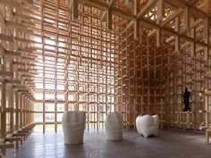 GC Prostho Museum Research Center by Kengo Kuma + Associates   Yellowtrace