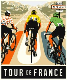 """Tour de France"" poster by Bill Butcher 2013?"