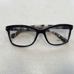 89e7197d92 Prada eyeglasses New with tags. Color  top black. White Havana. Comes with