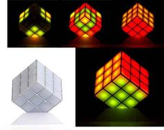 Rubik's cube lamp that lights up as the music you're listening