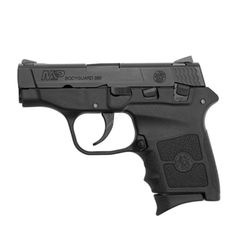 The Smith and Wesson M&P Bodyguard 380 semi-auto is a hammer-fired, double action only pistol with a polymer lower frame and a stainless steel slide.
