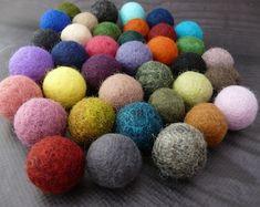 Black Friday Choose Your Color Felt Balls Wool Beads Felted   Etsy Felt Ball Rug, Diy Garland, Handmade Felt, Rugs On Carpet, Buy Carpet, Cheap Carpet, Etsy Shipping, Kugel, Felt Flowers