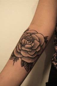 Black and white stippled flower