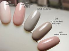 Polishes used: Topless and Barefoot- Essie An oldie but a goodie. I am trying to grow my nails out a bit longer than normal and so. Opi Nails, Nude Nails, Opi Nail Polish Colors, Manicures, Natural Nail Polish Color, Shellac Nails Fall, Opi Gel Polish, Shellac Colors, Fall Nail Colors