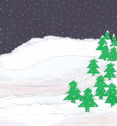 Strips and Stripes for Christmas Cards - Christmas card artwork ideas