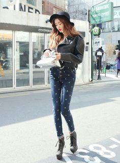 Park sora, high-waist jeans (weheartit.com)