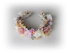 Flower Crown Flower Wreath Headband flowers Hair by SajmonArt