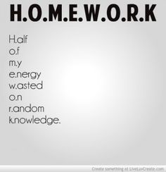 Funny Homework Quotes | Homework -