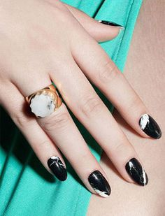 100 Marble Nails Design - Page 5 of 145 - Nail Art & Nail Designs Ideas Gorgeous Nails, Pretty Nails, Marble Nails, Acrylic Nails, Gel Nail, Gel Nagel Design, Gloss Matte, Manicure Y Pedicure, Pedicures