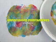 Impressions printanières - Bricolages pour enfants - par Gribouille éducatif Colourful Designs, Impressionism, Children