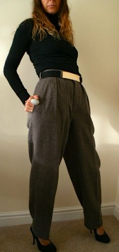 80's Vintage Pure New Wool Trousers / Pants by HelenmercerVintage, £10.00