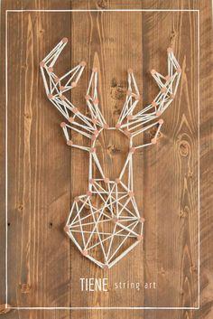 Geometric Deer - String Art by #Tiene Handmade wall decor woodart