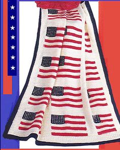 American flag throw.. Free crochet pattern!!