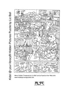 Kids your library® Hidden Pictures Puzzle by Liz